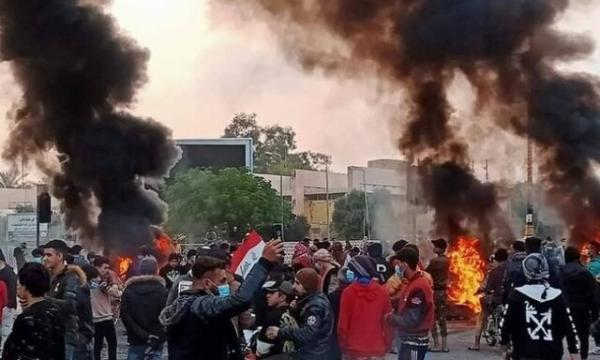 ادامه اعتراضات عراقی ها در استان بابل با درخواست برکناری استاندار